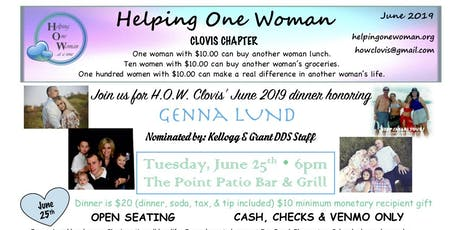 HOW Clovis is honoring Genna Lund at 6pm on June 25 tickets