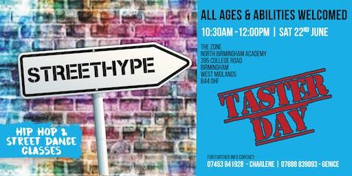 StreetHype Hip Hop & Street Dance Taster Day