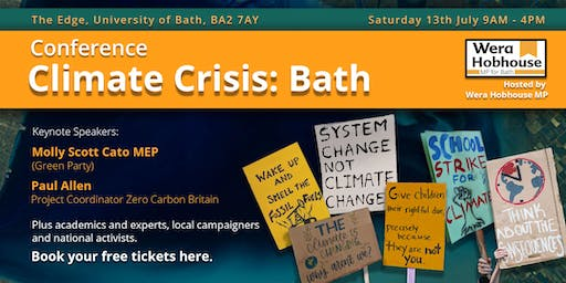 Wera Hobhouse MP Presents - Climate Crisis: Bath