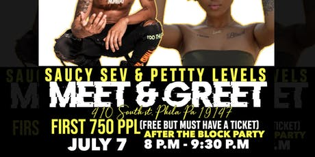 Petty Levels & Saucy Sev Meet and Greet tickets