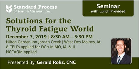 Solutions for the Thyroid Fatigue World tickets