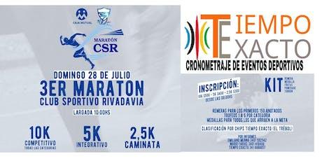 3ER MARATON CLUB SPORTIVO RIVADAVIA entradas