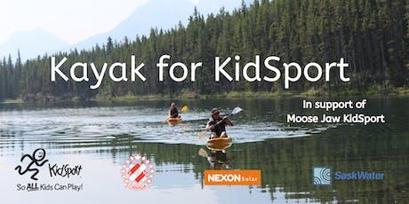 Kayak for KidSport tickets