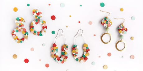 Rainbow Confetti Leather Earrings Workshop tickets