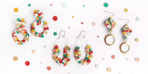 Rainbow Confetti Leather Earrings Workshop
