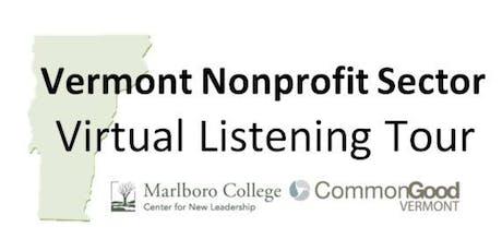 VT Nonprofit Sector Virtual Listening Tour tickets