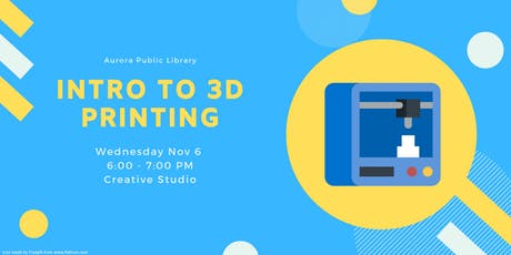Introduction to 3D Printing tickets