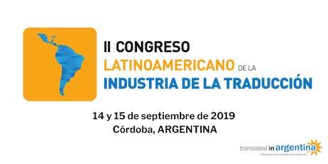 II Congreso Latinoamericano de la Industria de la Traducción - CLINT2019 entradas