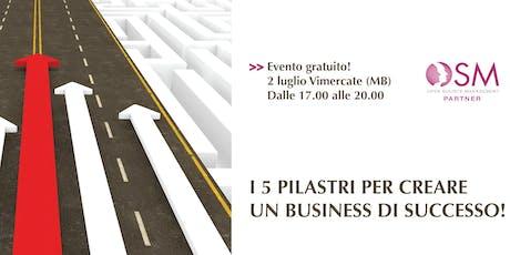 I 5 PILASTRI PER CREARE UN BUSINESS DI SUCCESSO biglietti