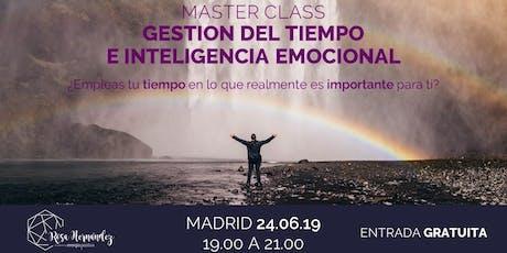 Máster Class Gestión del Tiempo e Inteligencia Emocional entradas