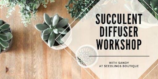 Succulent Diffuser Workshop