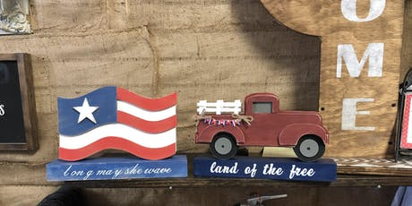 Vintage Truck or Flag Cutout sign tickets