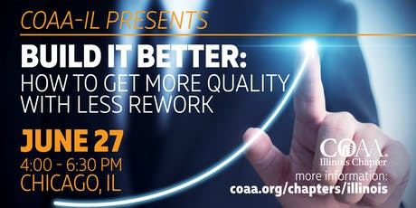 COAA-IL Workshop: Build it Better - How to get More Quality with Less Rework tickets