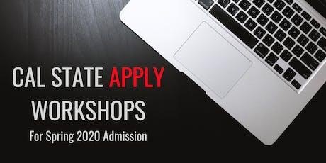 CSU Application Workshop for Spring 2020 tickets