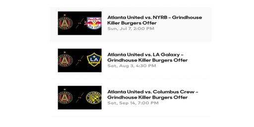 Grindhouse Killer Burgers Hosts Three Remaining ATLUTD All-inclusive Tailgates