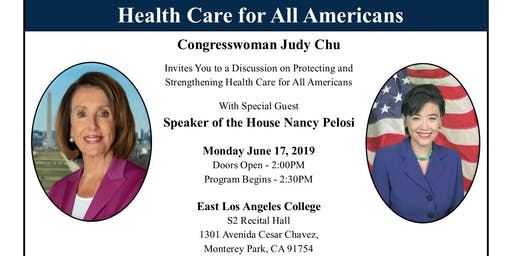 Speaker in the House: A Discussion on Health Care for All Americans