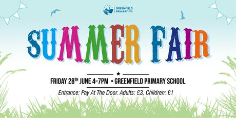 Greenfield Primary School's Summer Fair tickets