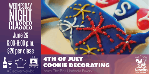 4th of July Cookie Decorating with The Pink Umbrella Bakery