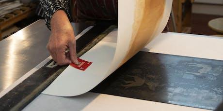 Printmaking Workshops - Aquatint and Sugar-lift tickets