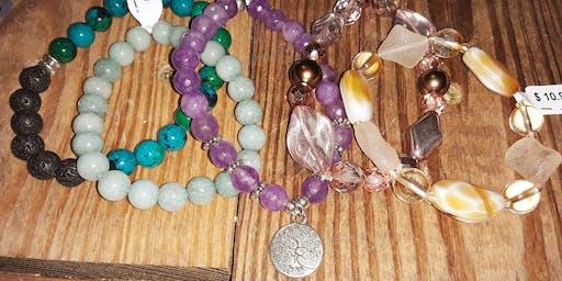 Create-Your-Own Semi Precious Stone Stretch Bracelets