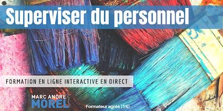 SUPERVISER DU PERSONNEL | Formation interactive à distance en direct billets