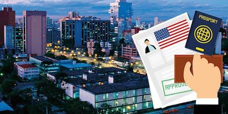 Palestra sobre Imigração para os EUA através de Investimento em Curitiba, Julho 31 2019, as 19 horas ingressos