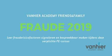 Verplichte cursus Fraude 2019 (PE-punten) tickets