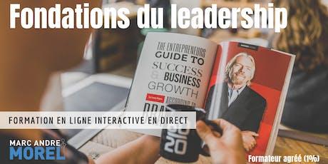 FONDATIONS DU LEADERSHIP | Formation interactive à distance en direct billets