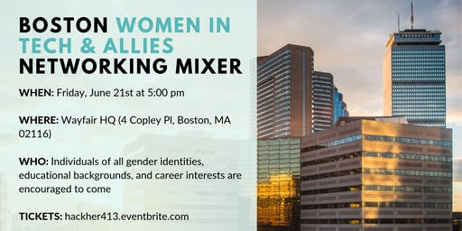 Boston Women in Tech and Allies Networking Mixer