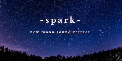~SPARK~ New Moon Sound Bath Healing Retreat