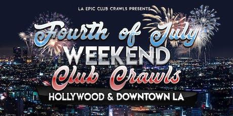 4th of July Weekend - Los Angeles & Hollywood Club Crawl tickets