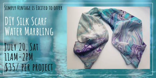 DIY Silk Scarf Marbling