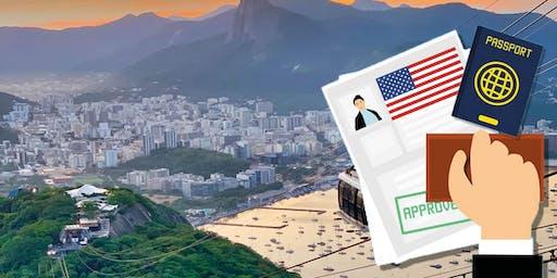 Palestra: Como investir e residir legalmente nos Estados Unidos? ( Rio de Janeiro, 1 de Agosto/2019, as 19:30 horas )