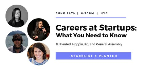 Careers at Startups: What You Need to Know tickets