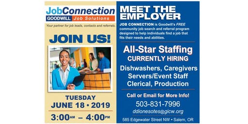 Hiring Event - West Salem - 6/18/19