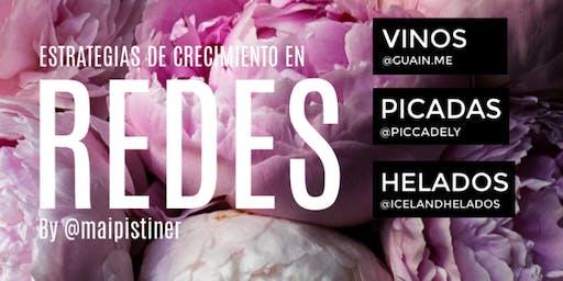 NOCHE DE PICADA&VINOS &HELADO + ESTRATEGIAS DE CRECIMIENTO EN REDES