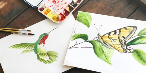 Craft Lab: Botanical Watercolors (Adult Session)