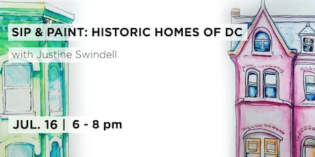 Paint & Sip DC: Historic Homes Illustration with Justine Swindell  tickets