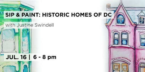 Paint & Sip DC: Historic Homes Illustration with Justine Swindell
