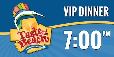 2019 Taste of the Beach VIP Dinner 7 PM Trolley tickets