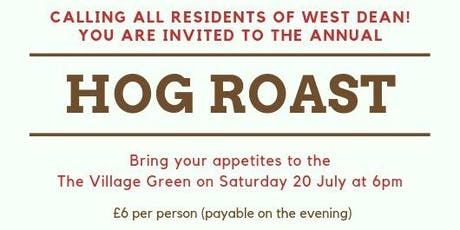 West Dean Hog Roast tickets