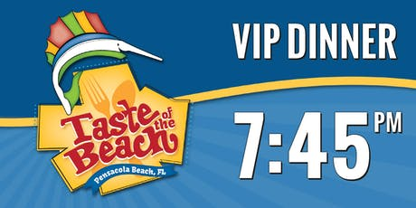2019 Taste of the Beach VIP Dinner 7:45 PM Trolley tickets