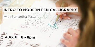 Intro to Modern Pen Calligraphy with Samantha Testa