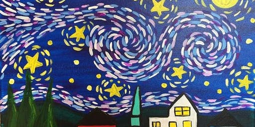 Van Gogh's Starry Night Kids Edition Summer Paint Party