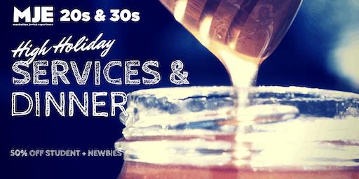 MJE West 20s & 30s High Holidays: Rosh Hashana & Yom Kippur Services+ Break Fast 2019