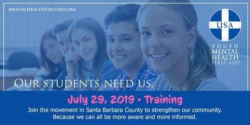 JULY 29 Youth Mental Health First Aid Training