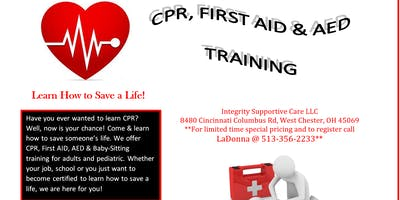 FIRST AID/CPR/AED Classes