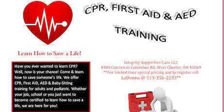 FIRST AID/CPR/AED Classes tickets
