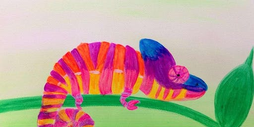 Colorful Chameleon Kids Summer Paint Party