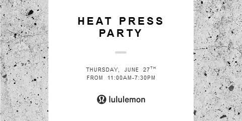 Heat Press Party